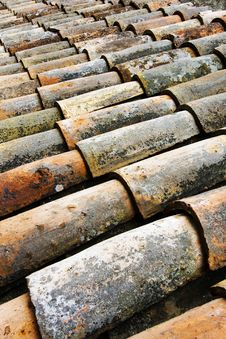 Free Old Roof Tiles. Royalty Free Stock Image - 19236386
