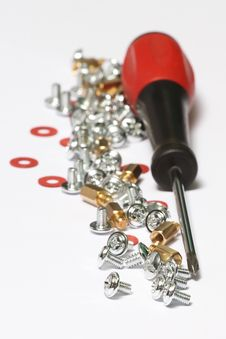 Free Screws And Srewdriver Royalty Free Stock Image - 19236586