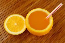 Free Fresh Orange Juice Royalty Free Stock Photo - 19237105