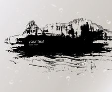 Free Grunge Banner With An Inky Dribble Strip Stock Photos - 19237293