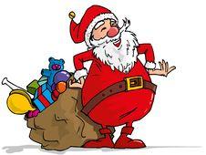 Cartoon Santa With A White Beard Stock Photo