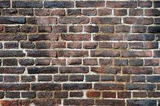 Old Wall Made Of Flamed Bricks Stock Photos