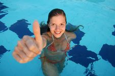 Free Woman In Pool Royalty Free Stock Photo - 19238005