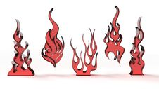 Free Stylized Flames Royalty Free Stock Photos - 19239908