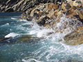 Free Cinque Terre Waves In Italy Royalty Free Stock Photo - 19243255