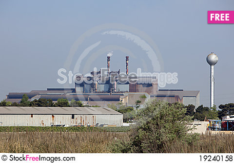 Free Old Industrial Plant In The Background Royalty Free Stock Photos - 19240158