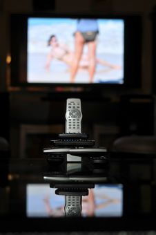Free Too Many Remote Controls For TV Royalty Free Stock Image - 19240686