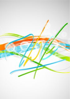 Free Colorful Lines Royalty Free Stock Photography - 19241937