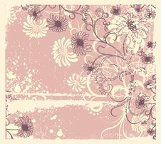 Free Vector Floral Decoration .Vintage Stock Images - 19242164