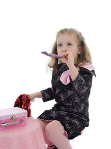 Free Pretty Little Girl In Children Party Playing Stock Photography - 19242432