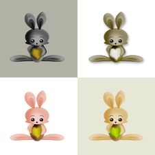 Free Cute Bunnies Royalty Free Stock Photos - 19242448