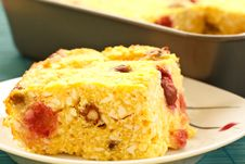 Cottage Cheese Casserole Stock Photography