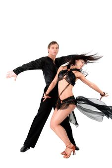 Free Latino Dancers In Action Royalty Free Stock Photography - 19243347