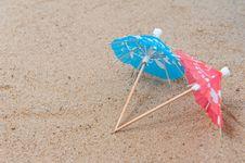 Free Two Umbrellas Stock Photography - 19243372