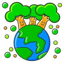 Saved The Planet Stock Photo