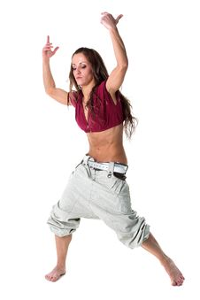 Free Cool Woman Dancer Royalty Free Stock Images - 19243769