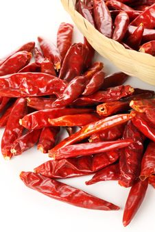 Dried Red Pepper Stock Images