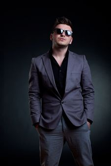 Free Man With Sunglasses Standing Stock Photography - 19244002