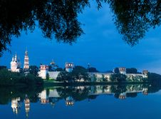 Free Novodevichy Convent In The Evening Stock Photography - 19244352