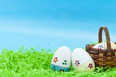 Free Three Easter Eggs Stock Photography - 19244442