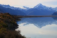 Free Mount Cook Of Lake Pukaki Stock Photo - 19244570