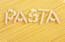 Different Kinds Of Italian Pasta Royalty Free Stock Photography
