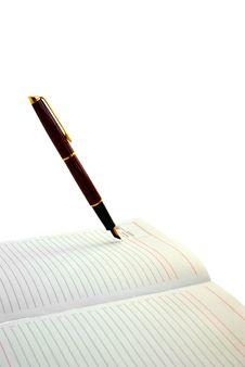 Pen And Diary Royalty Free Stock Photos