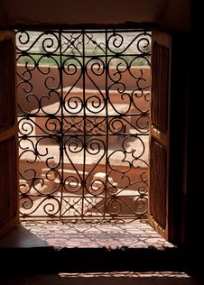 Free Window Inside Taourirt Kasbah Stock Photography - 19245832