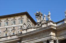 St Peter S Square Saints, Rome Italy Stock Photos