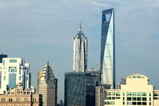 Modern Buildings Of Shanghai Royalty Free Stock Images