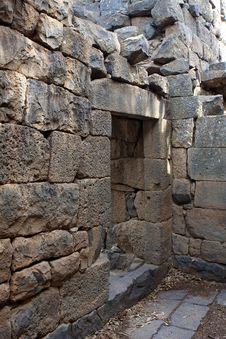 Free Ruins Of The Church At Gamla, Israel Stock Photo - 19246380