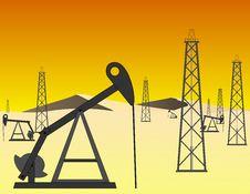 Free Desert Oil Field Vector Royalty Free Stock Image - 19246646