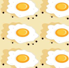 Free Fried Eggs Seamless Stock Photography - 19247072
