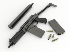 Free Compact Submachine-gun 9a91 With Silenced Royalty Free Stock Photo - 19247785