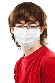 Free Teenager With Glasses And Mask Stock Photo - 19248250