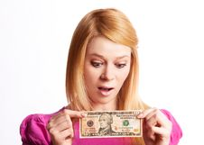 Free Girl With Money Stock Photo - 19248450