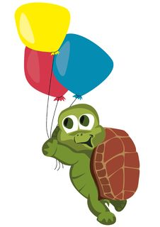 Free Turtle With Balloons Stock Photo - 19248920