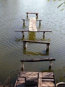 A Footbridge. Royalty Free Stock Photography