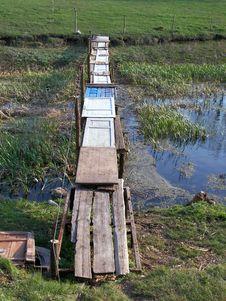 A Footbridge. Royalty Free Stock Photos