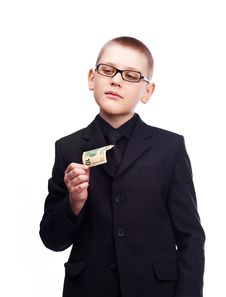 Young Businessman With Money Stock Images