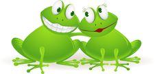 Free Couple Frog Royalty Free Stock Photo - 19249715