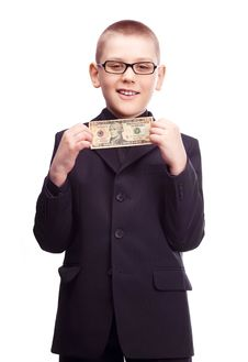Free Boy With Money Royalty Free Stock Photos - 19249718
