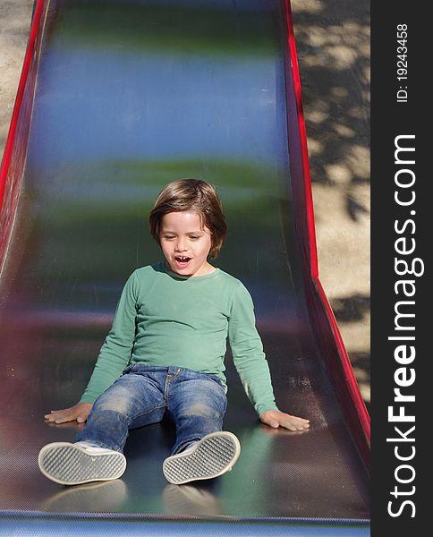 Boy on the slide
