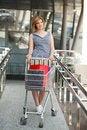 Free Beautifull Woman With Shopping Cart Stock Image - 19252851