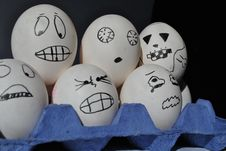 Free Eggs Are Scared Stock Photography - 19250082