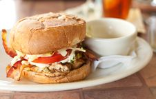 Free Chicken Sandwich Royalty Free Stock Photo - 19250445