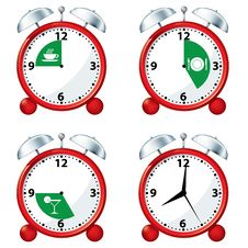 Free Alarm Clocks With Eating Times Stock Images - 19250484