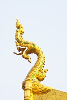 Statue King Of Nagas Stock Images