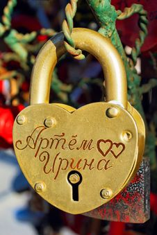 Free Lock Of Love Stock Photography - 19250982