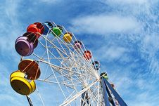Brightly Colored Ferris Wheel